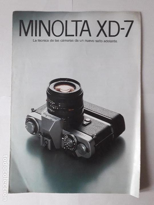 MANUAL / CATALOGO CAMARA FOTOGRAFICA MINOLTA XD-7 (Cámaras Fotográficas - Catálogos, Manuales y Publicidad)