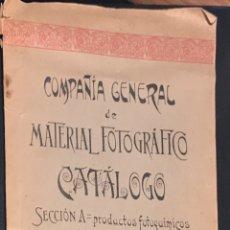 Appareil photos: COMPAÑÍA GENERAL. CATÁLOGO DE MATERIAL FOTOGRÁFICO CON ABUNDANTE PUBLICIDAD. BILBAO , JUNIO 1901. Lote 130828427