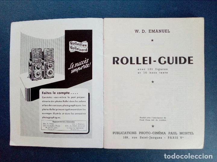 Cámara de fotos: ROLLEIFLEX - GUÍA ROLLEI - ED. PAUL MONTEL - PARÍS 1953. - Foto 4 - 130829040