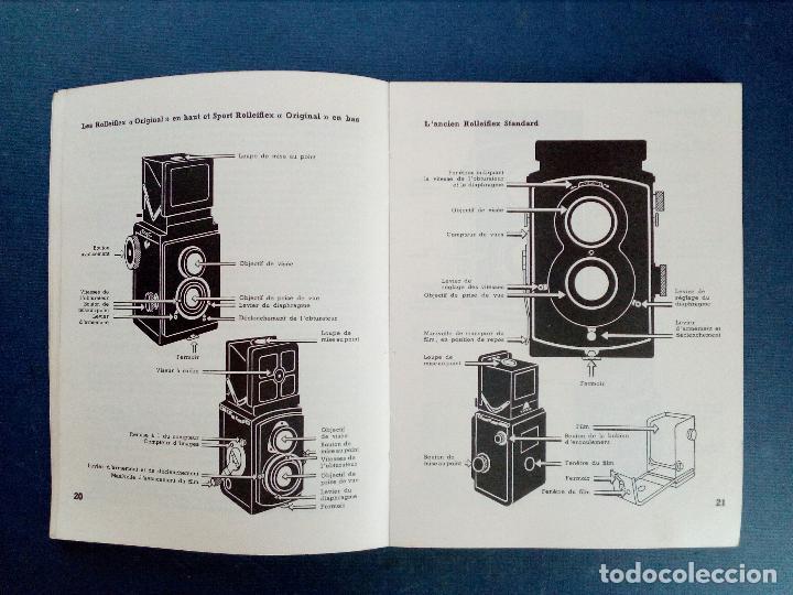 Cámara de fotos: ROLLEIFLEX - GUÍA ROLLEI - ED. PAUL MONTEL - PARÍS 1953. - Foto 7 - 130829040