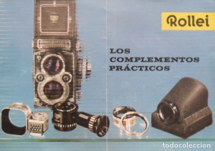 ROLLEI LOS COMPLEMENTOS PRÁCTICOS. ALEMANIA 1961. (Cámaras Fotográficas - Catálogos, Manuales y Publicidad)