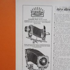 Cámara de fotos: PUBLICIDAD 1958 - COLECCIÓN CÁMARAS - CAMARA PECO 10 X 15 Y 13 X 18. Lote 132195542