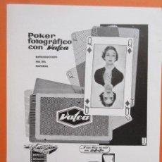 Cámara de fotos: PUBLICIDAD 1958 - COLECCIÓN CÁMARAS - PELICULA NEGATIVO CARRETE VALCA VALCOLOR. Lote 132197178