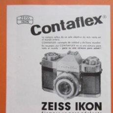 Cámara de fotos: PUBLICIDAD 1960 - COLECCIÓN CÁMARAS - CAMARAS CONTAFLEX SUPER ZEISS IKON. Lote 132197846