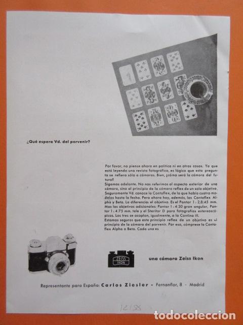 PUBLICIDAD 1958 - COLECCIÓN CÁMARAS - CAMARAS ZEISS IKON (Cámaras Fotográficas - Catálogos, Manuales y Publicidad)