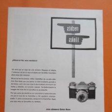 Cámara de fotos: PUBLICIDAD 1958 - COLECCIÓN CÁMARAS - CAMARAS ZEISS IKON . Lote 132198058
