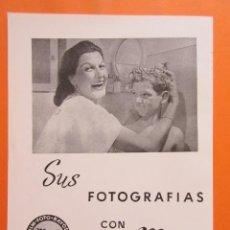 Cámara de fotos: PUBLICIDAD 1958 - COLECCIÓN CÁMARAS - SUS FOTOGRAFIAS CON MAFE ARANJUEZ. Lote 132198362