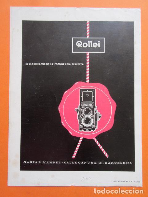 PUBLICIDAD 1960 - COLECCIÓN CÁMARAS - ROLLEI ROLLEIFLEX (Cámaras Fotográficas - Catálogos, Manuales y Publicidad)