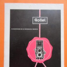 Cámara de fotos: PUBLICIDAD 1960 - COLECCIÓN CÁMARAS - ROLLEI ROLLEIFLEX. Lote 132199002