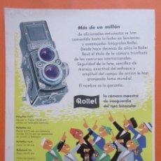 Cámara de fotos: PUBLICIDAD 1958- COLECCIÓN CÁMARAS - ROLLEI ROLLEIFLEX. Lote 132199174