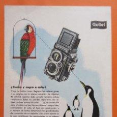 Cámara de fotos: PUBLICIDAD 1958- COLECCIÓN CÁMARAS - ROLLEI ROLLEIFLEX. Lote 132199210