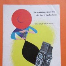 Cámara de fotos: PUBLICIDAD 1958- COLECCIÓN CÁMARAS - ROLLEI ROLLEIFLEX. Lote 132199230