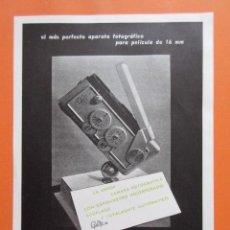 Cámara de fotos: PUBLICIDAD 1959 - COLECCIÓN CÁMARAS - CAMARA GAMI CON EXPOSIMETRO INCORPORADO. Lote 132200042