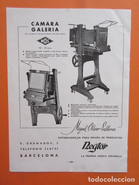 PUBLICIDAD 1958 - COLECCIÓN CÁMARAS - REGTOR PLEMEN CAMARA MOS (Cámaras Fotográficas - Catálogos, Manuales y Publicidad)