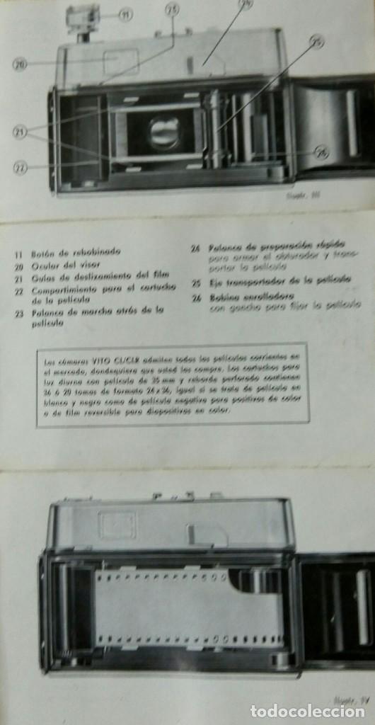 Cámara de fotos: Cámara Voigtlander Vito CL CLR instrucciones - Foto 2 - 132590942