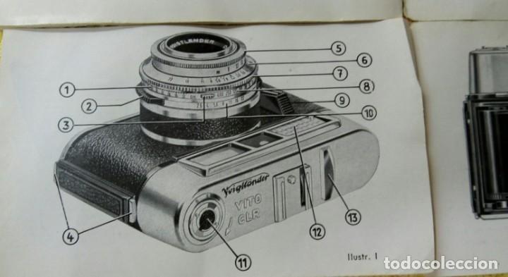 Cámara de fotos: Cámara Voigtlander Vito CL CLR instrucciones - Foto 4 - 132590942