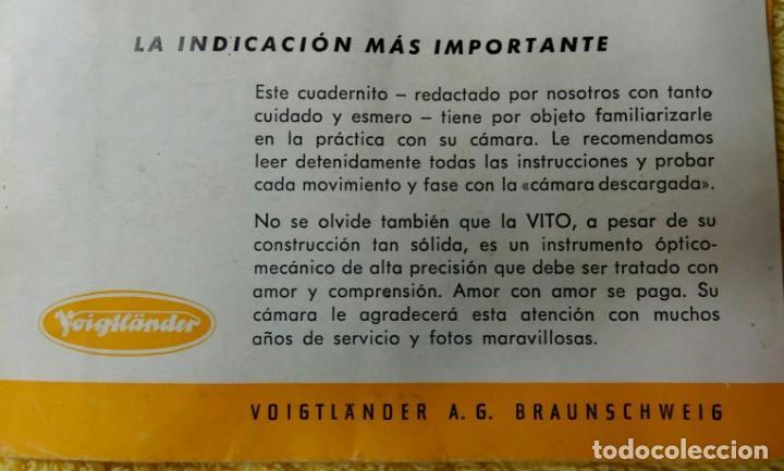 Cámara de fotos: Cámara Voigtlander Vito CL CLR instrucciones - Foto 8 - 132590942