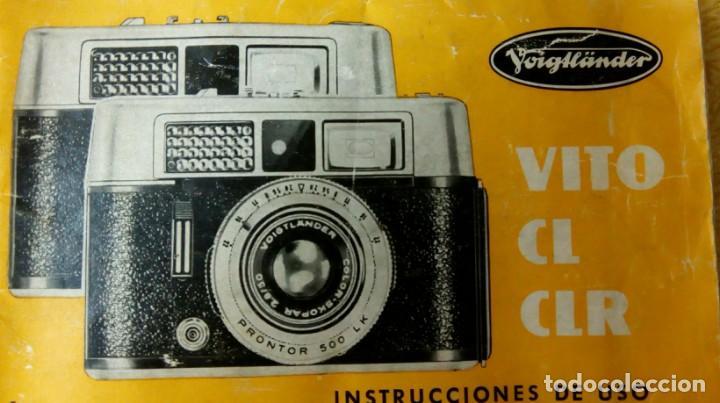 Cámara de fotos: Cámara Voigtlander Vito CL CLR instrucciones - Foto 9 - 132590942