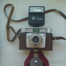 Cámara de fotos: CAMARA DE FOTO MARCA WERLISA - COLOR , CON SU ESTUCHE DE CUERO Y FLASH MARCA STARBLITZ. Lote 132591538