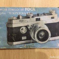 Cámara de fotos: INSTRUCCIONES FOCA. Lote 133338518