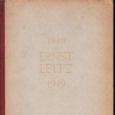Cámara de fotos: ERNST LEITZ 1849 1949 DEM SCHOPFER DER LEICA GEWIDMET - DEDICADO AL COMPRADOR DE LEICA. Lote 133986830