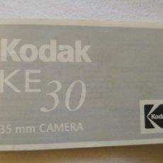Cámara de fotos: MANUAL DE INSTRUCCIONES KODAK KE30. Lote 134094574