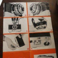 Cámara de fotos: MANUAL INSTRUCCIONES CÁMARA FOTOGRAFÍA BEIRETTE.. Lote 134353674