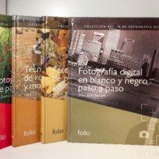 Cámara de fotos: 4 LIBROS COLECCIÓN BÁSICA DE FOTOGRAFÍA DIGITAL, FOLIO, EDICIÓN DEL 2007. IMPRESCINDIBLES.. Lote 134774638