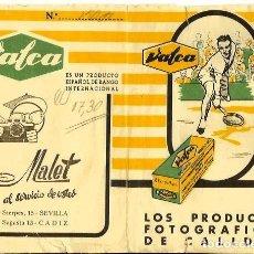 Cámara de fotos: ESTUCHE VALCA AÑOS 50. Lote 135931266