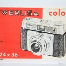 Cámara de fotos: MANUAL DE USUARIO PARA CÁMARA / FOTOS - WERLISA COLOR 24 X 36 - CERTEX - AÑOS 70. Lote 136374222