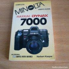 Cámara de fotos: MANUAL DEL USUARIO MINOLTA MAXXUN.DYNAX 7000. Lote 137506834