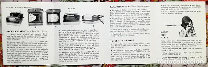 Cámara de fotos: Pequeño manual de instrucciones Cámara KODAK BROWNIE FIESTA - Foto 2 - 137857838