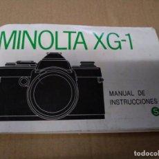 Appareil photos: CATÁLOGO MANUAL INSTRUCCIONES MINOLTA XG-1 53 PÁGINA. Lote 137883870