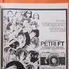 Cámara de fotos - PUBLICIDAD 1968 - COLECCION CAMARAS - PETRI FT - 138253230