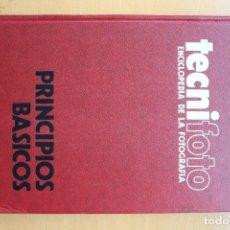 Cámara de fotos: ENCICLOPEDIA DE LA FOTOGRAFIA TECNIFOTO, 3 TOMOS. NUEVA LENTE-1977. Lote 138575078