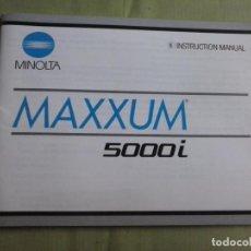 Cámara de fotos: MANUAL INSTRUCCIONES CAMARA MINOLTA MAXXUM 5000I. EN INGLÉS. Lote 138790602