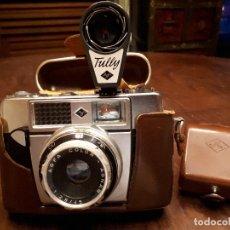 Cámara de fotos: ANTIGUA CÁMARA DE FOTOGRAFIAR AGFA ÓPTIMA. MADE IN GERMANY. CON FLASH Y FUNDAS CUERO ORIGINALES. Lote 138834514