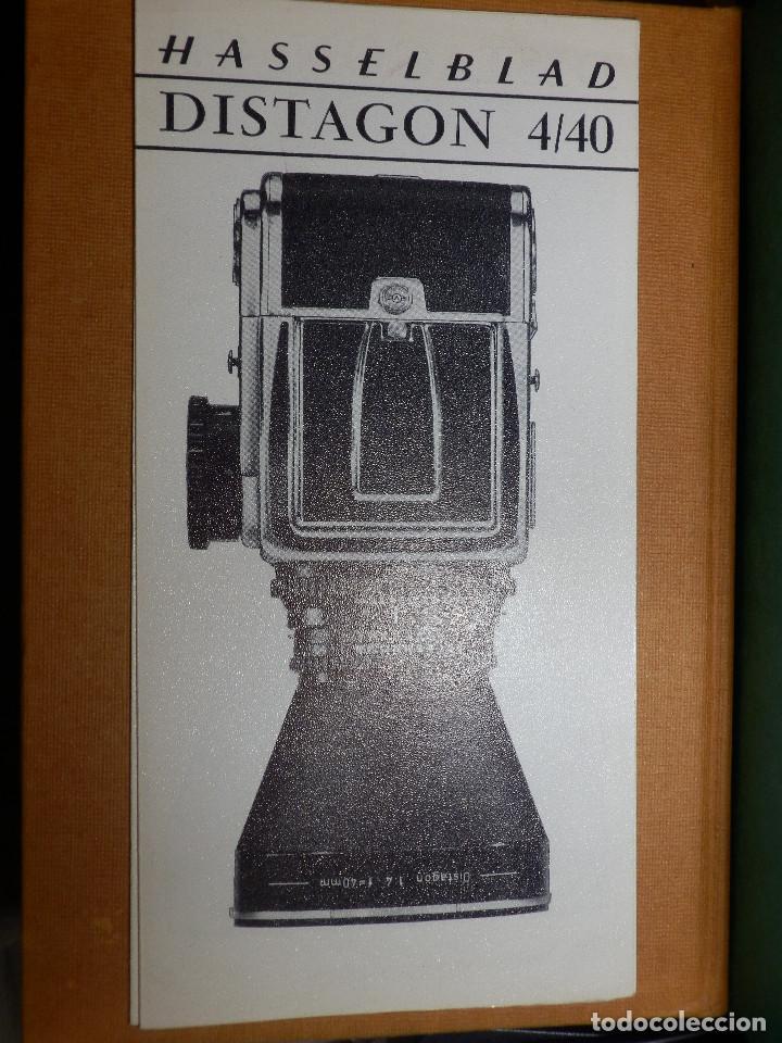 CATÁLOGP CÁMARA FOTOS - HASSELBLAD - DISTAGON 4/40 - CUADRIPTICO - FRANCÉS - 21 CM. X 10,5 CM (Cámaras Fotográficas - Catálogos, Manuales y Publicidad)