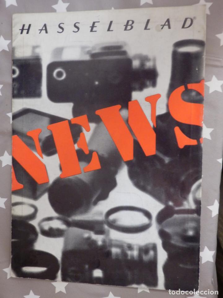 CATÁLOGP CÁMARA FOTOS - HASSELBLAD NEWS - POLÍPTICO 5 PAG. - INGLÉS - 21 CM. X 15 CM - 70´S (Cámaras Fotográficas - Catálogos, Manuales y Publicidad)