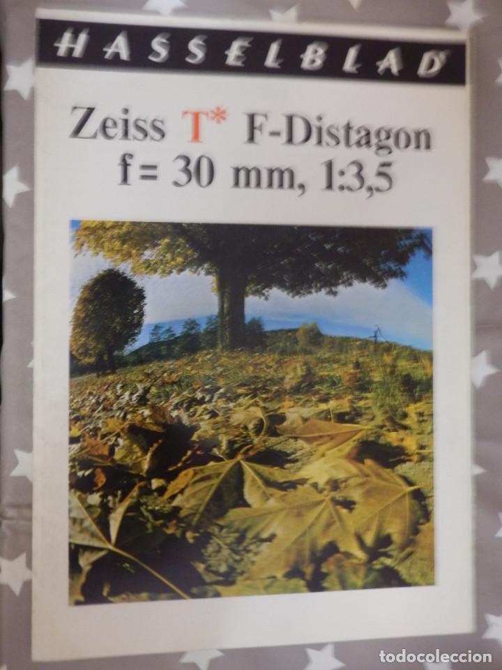 CATÁLOGP CÁMARA FOTOS - HASSELBLAD ZEISS F-DISTAGON F=30MM. 1:3, POLÍPTICO 5 PAG. 21 X 15 CM ESPAÑOL (Cámaras Fotográficas - Catálogos, Manuales y Publicidad)