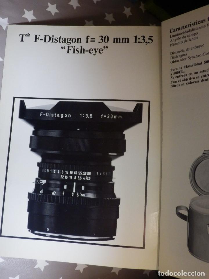 Cámara de fotos: Catálogp cámara fotos - Hasselblad Zeiss F-Distagon f=30mm. 1:3, Políptico 5 pag. 21 x 15 cm Español - Foto 2 - 138900686