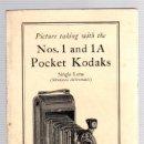 Cámara de fotos: CATALOGO POCKET KODAKS. NUM. 1 AND 1A. EASTMAN KODAK COMPANY, 1927. Lote 139388738