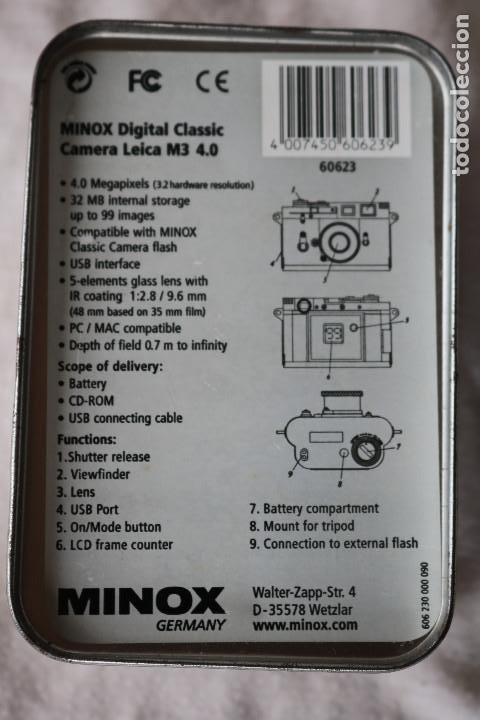 Cámara de fotos: LEICA M3 4.0 MINOX - REEDICION DIGITAL DE LA MITICA MINOX - - Foto 10 - 140039030