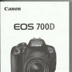 Cámara de fotos: CANON EOS 700 D ESPAÑOL. Lote 140335142