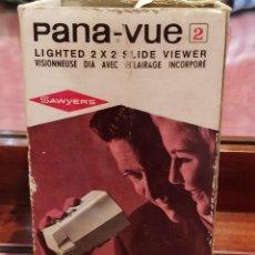 Cámara de fotos: VISOR PANA-VUE LIGHTED 2X2 SLIDE VIEWER, MARCA SAWYER'S. Lote 140378250