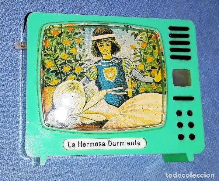 ANTIGUO TELEVISOR VISOR DE DIAPOSITIVAS LA HERMOSA DURMIENTE PLASTISKOP MADE IN GERMANY MUY DIFICIL (Cámaras Fotográficas - Visores Estereoscópicos)