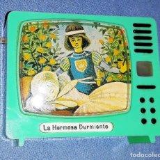 Cámara de fotos: ANTIGUO TELEVISOR VISOR DE DIAPOSITIVAS LA HERMOSA DURMIENTE PLASTISKOP MADE IN GERMANY MUY DIFICIL. Lote 141936694