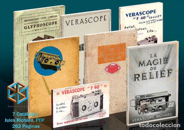 JULES RICHARD 7 CATÁLOGOS PDF. VERASCOPE, TAXIPHOTE, GLYPHOSCOPE, ETC. DVD (Cámaras Fotográficas - Visores Estereoscópicos)