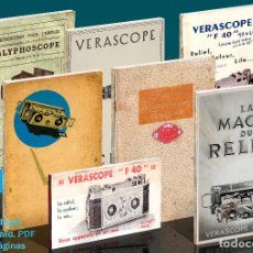 Cámara de fotos: JULES RICHARD 7 CATÁLOGOS PDF. VERASCOPE, TAXIPHOTE, GLYPHOSCOPE, ETC. DVD. Lote 142824814