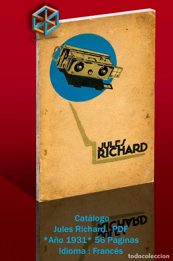 Cámara de fotos: Jules Richard 7 Catálogos PDF. Verascope, Taxiphote, Glyphoscope, etc. DVD - Foto 3 - 142824814